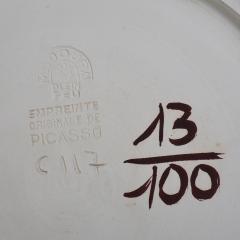 Pablo Picasso Tormented Face Ceramic Plate 1956 - 1125024