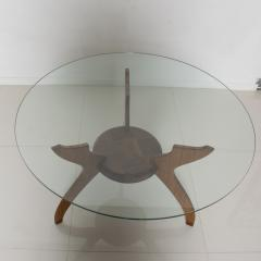 Pablo Romo Graceful Sculptural Side Round Table in Walnut Bamboo by AMBIANIC - 1684105