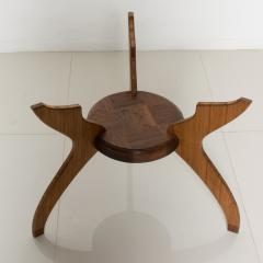 Pablo Romo Graceful Sculptural Side Round Table in Walnut Bamboo by AMBIANIC - 1684109