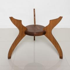 Pablo Romo Graceful Sculptural Side Round Table in Walnut Bamboo by AMBIANIC - 1684111