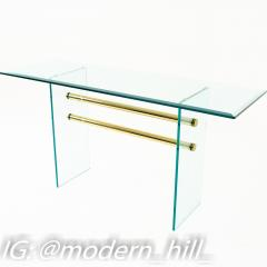 Pace Mid Century Brass and Glass Coffee Sofa Table - 1869180