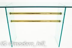 Pace Mid Century Brass and Glass Coffee Sofa Table - 1869181