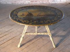 Painted 18th century Dutch Oval Hindeloopen Table - 1038518