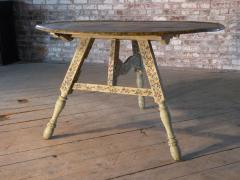 Painted 18th century Dutch Oval Hindeloopen Table - 1038520