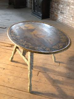 Painted 18th century Dutch Oval Hindeloopen Table - 1038521