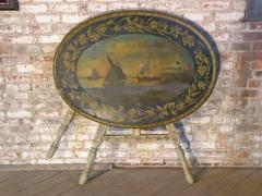 Painted 18th century Dutch Oval Hindeloopen Table - 1038522