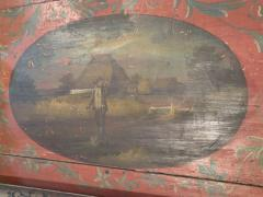 Painted 18th century Dutch Oval Hindeloopen Table - 1038524