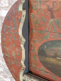 Painted 18th century Dutch Oval Hindeloopen Table - 1038526