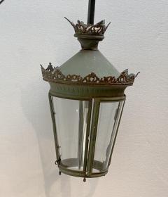 Painted Metal Lantern France Circa 19th Century - 1455156