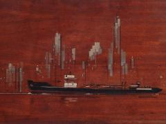 Painted Panels of lower Manhattan from the old downtown NYAC Club - 901422