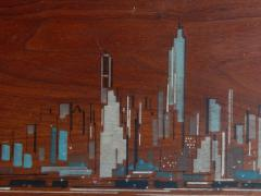 Painted Panels of lower Manhattan from the old downtown NYAC Club - 901425