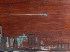 Painted Panels of lower Manhattan from the old downtown NYAC Club - 901426