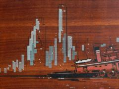 Painted Panels of lower Manhattan from the old downtown NYAC Club - 901429