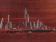 Painted Panels of lower Manhattan from the old downtown NYAC Club - 901435
