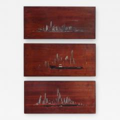Painted Panels of lower Manhattan from the old downtown NYAC Club - 901865