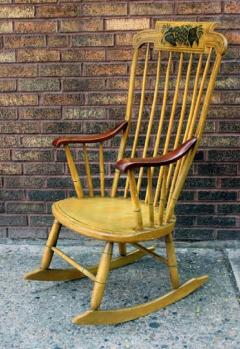 Painted Rocking Chair Original Paint New England circa 1840 - 552734