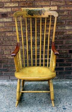 Painted Rocking Chair Original Paint New England circa 1840 - 552735