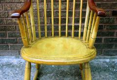 Painted Rocking Chair Original Paint New England circa 1840 - 552737