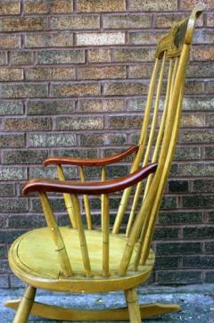 Painted Rocking Chair Original Paint New England circa 1840 - 552741