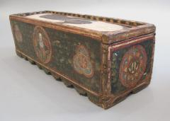 Painted Wood Casket - 268897