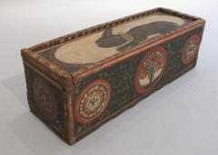 Painted Wood Casket - 268898
