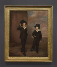 Painting Of Two Schoolboys Possibly Attending Eton College - 1894716