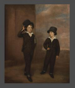 Painting Of Two Schoolboys Possibly Attending Eton College - 1894717