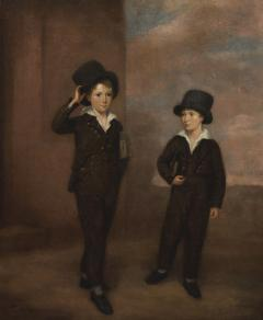 Painting Of Two Schoolboys Possibly Attending Eton College - 1895326