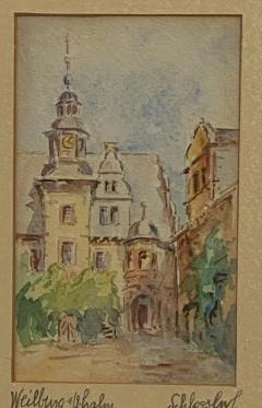Painting of A German Town - 1637240