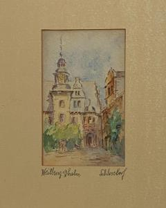 Painting of A German Town - 1637241