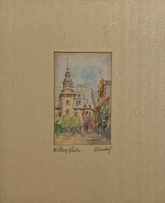 Painting of A German Town - 1637602
