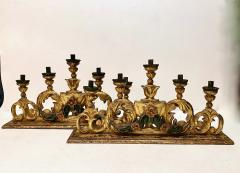 Pair 18th Century Spanish Colonial Altar Candelabra - 1888462
