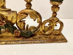Pair 18th Century Spanish Colonial Altar Candelabra - 1888464