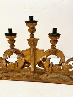 Pair 18th Century Spanish Colonial Altar Candelabra - 1888465
