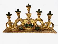 Pair 18th Century Spanish Colonial Altar Candelabra - 1888469