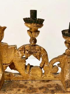 Pair 18th Century Spanish Colonial Altar Candelabra - 1888473