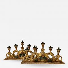 Pair 18th Century Spanish Colonial Altar Candelabra - 1892186