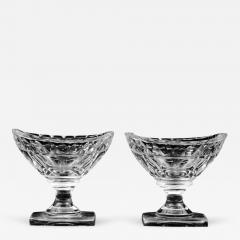 Pair American Cut Glass Open Salts Circa 1800 - 261678