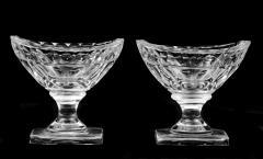 Pair American Cut Glass Open Salts Circa 1800 - 261679