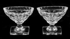 Pair American Cut Glass Open Salts Circa 1800 - 261680