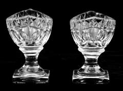 Pair American Cut Glass Open Salts Circa 1800 - 261681