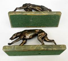 Pair Art Deco Bronze Bookends France C 1930  - 1956007