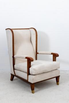 Pair Art Deco Chairs with Ottomans - 1753173