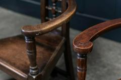 Pair Arts Crafts Oak Shakespeare Chairs - 1953715