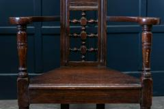 Pair Arts Crafts Oak Shakespeare Chairs - 1953719