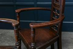 Pair Arts Crafts Oak Shakespeare Chairs - 1953720