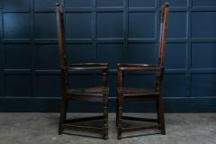 Pair Arts Crafts Oak Shakespeare Chairs - 1953723