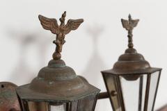 Pair Austrian Eagle Mounted Brass Wall Lanterns - 2052210