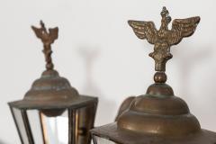 Pair Austrian Eagle Mounted Brass Wall Lanterns - 2052212