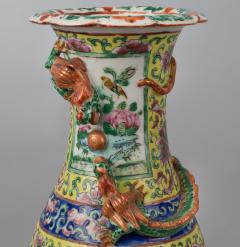 Pair Chinese Export Canton Open Vases - 789003